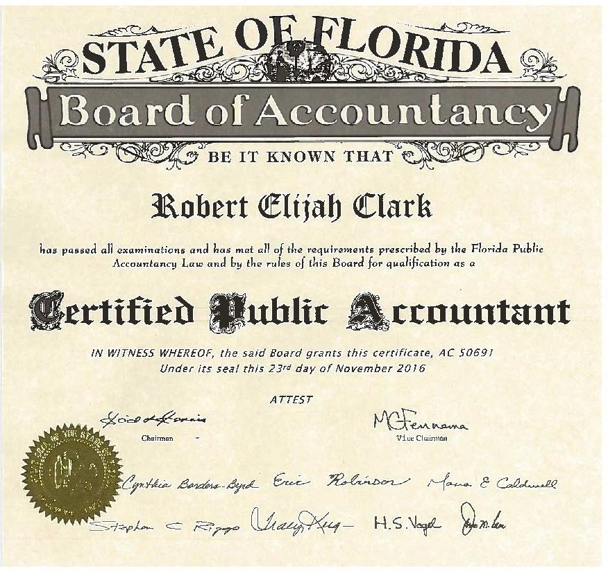About Robert Clark Cpa